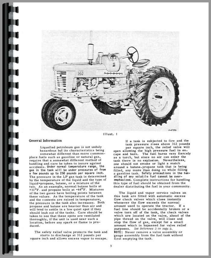 Farmall 350 Tractor Operators Manual