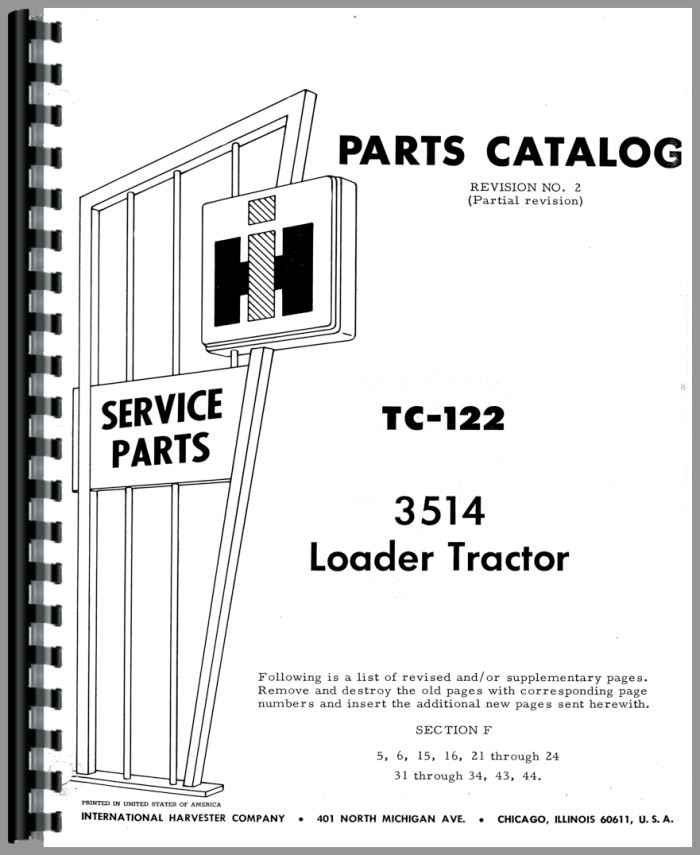 International Harvester 3514 Industrial Tractor Parts Manual