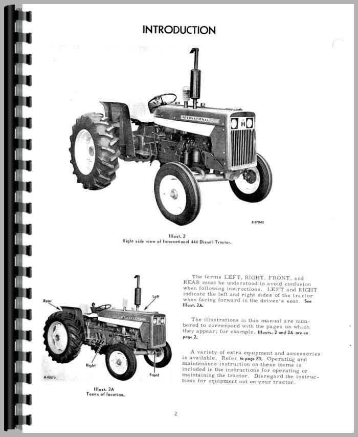 International Harvester 444 Tractor Operators Manual