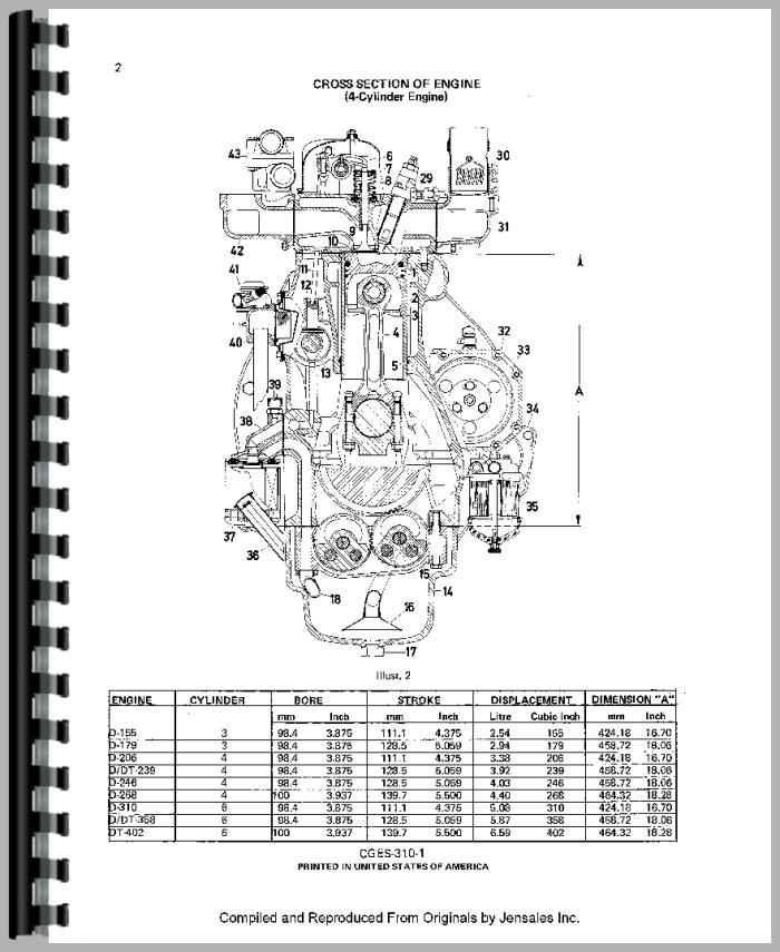 International Harvester 484 Tractor Engine Service Manual