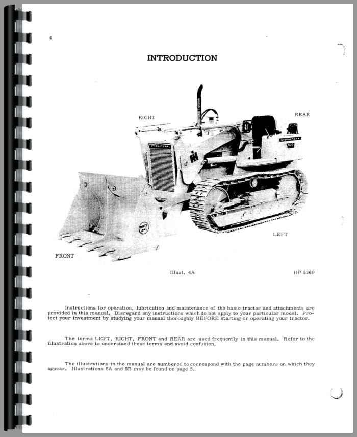 International Harvester 500C Crawler Operators Manual