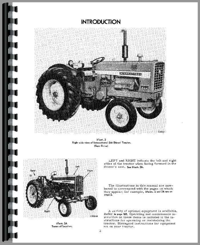 Farmall 544 Tractor Operators Manual