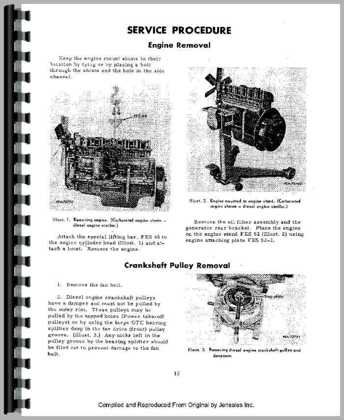 International Harvester 656 Tractor Engine Service Manual