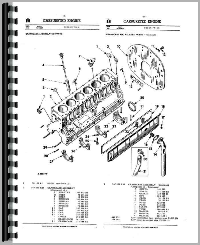 International Harvester 660 Tractor Parts Manual