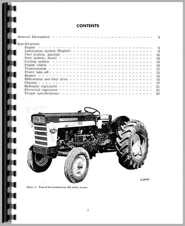 International Harvester 660 Tractor Service Manual