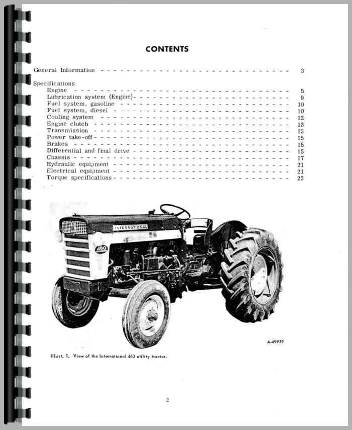 International Harvester 660 Tractor Service Manual