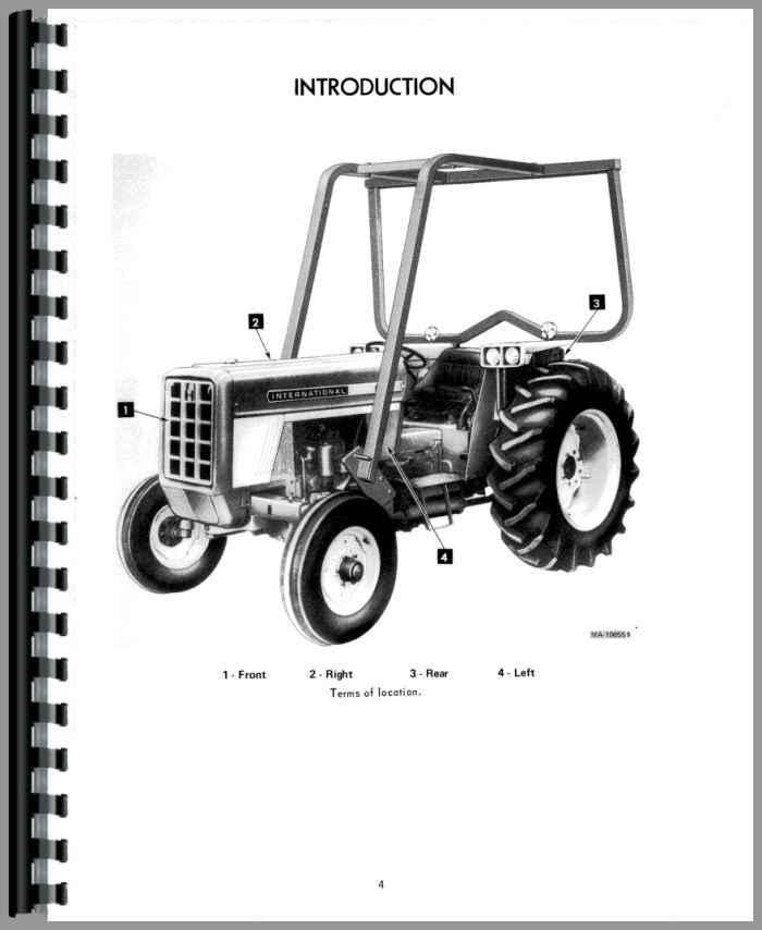 International Harvester 674 Tractor Operators Manual