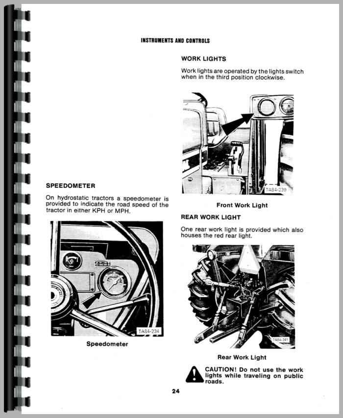 International Harvester 684 Tractor Operators Manual