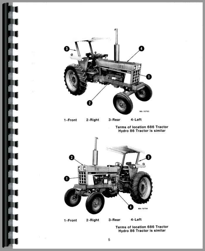 International Harvester 686 Tractor Operators Manual