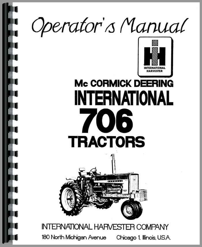 Farmall 706 Tractor Operators Manual