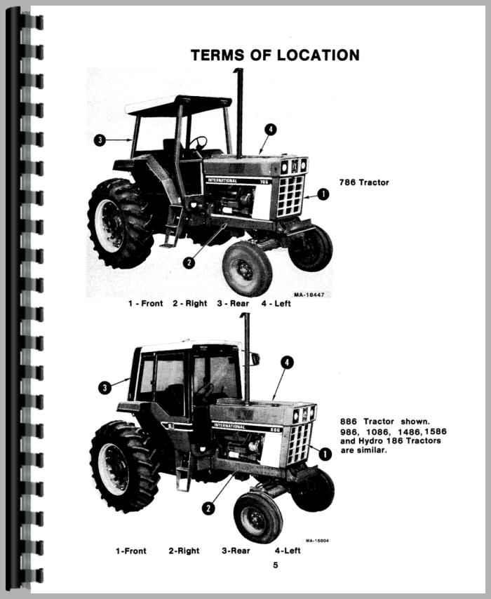 International Harvester 986 Tractor Operators Manual