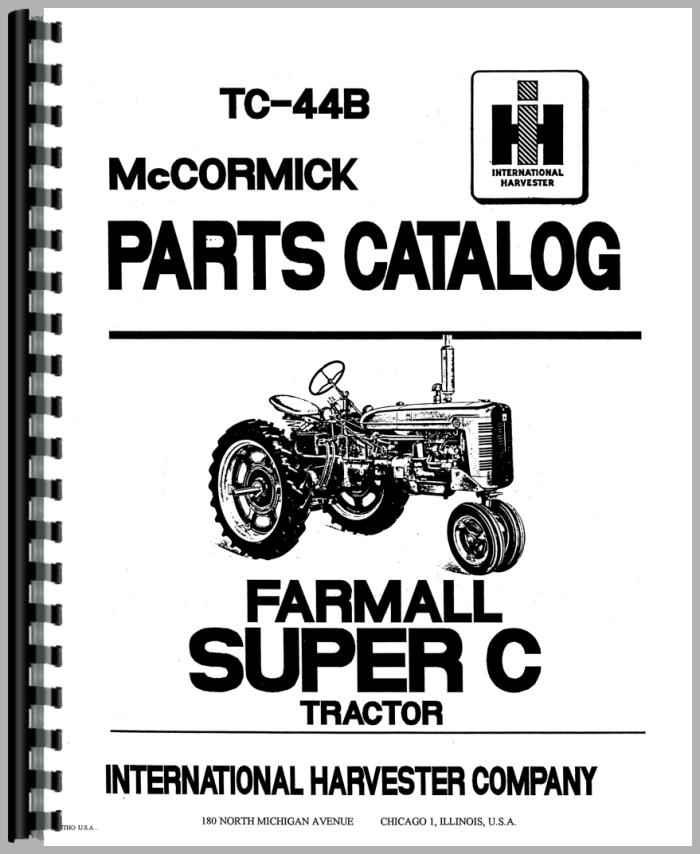 Farmall Super C Tractor Parts Manual