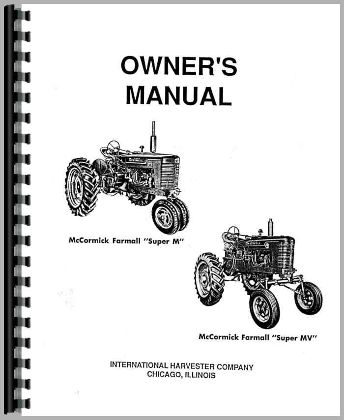 Farmall Super M Tractor Operators Manual