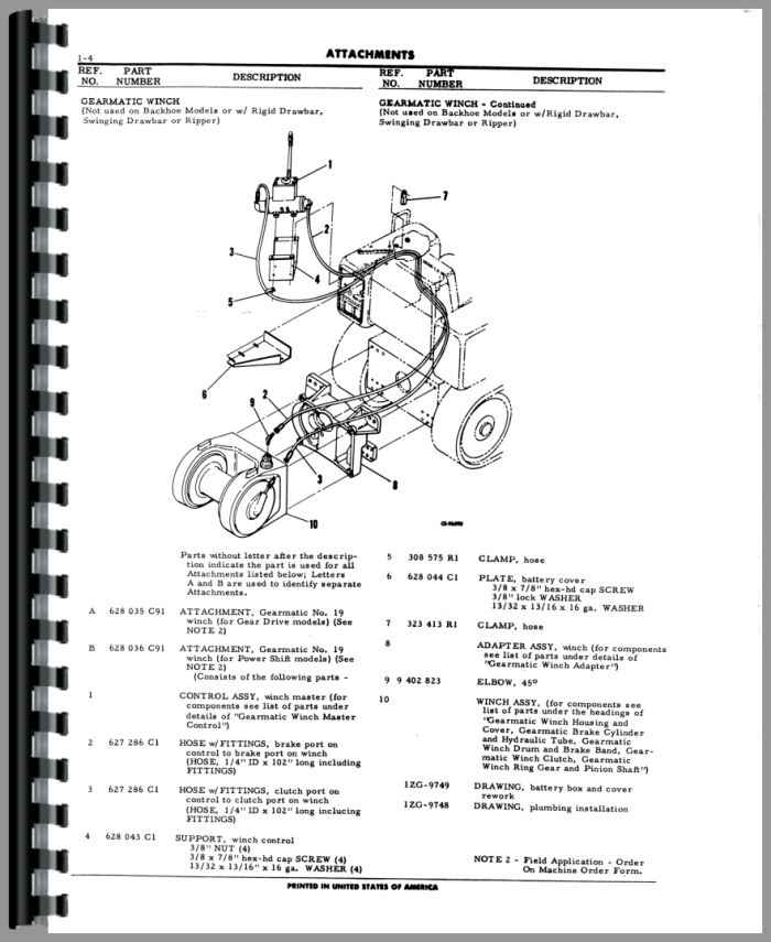International Harvester TD8C Crawler Parts Manual