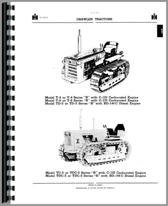 International Harvester TDC5 Crawler Parts Manual