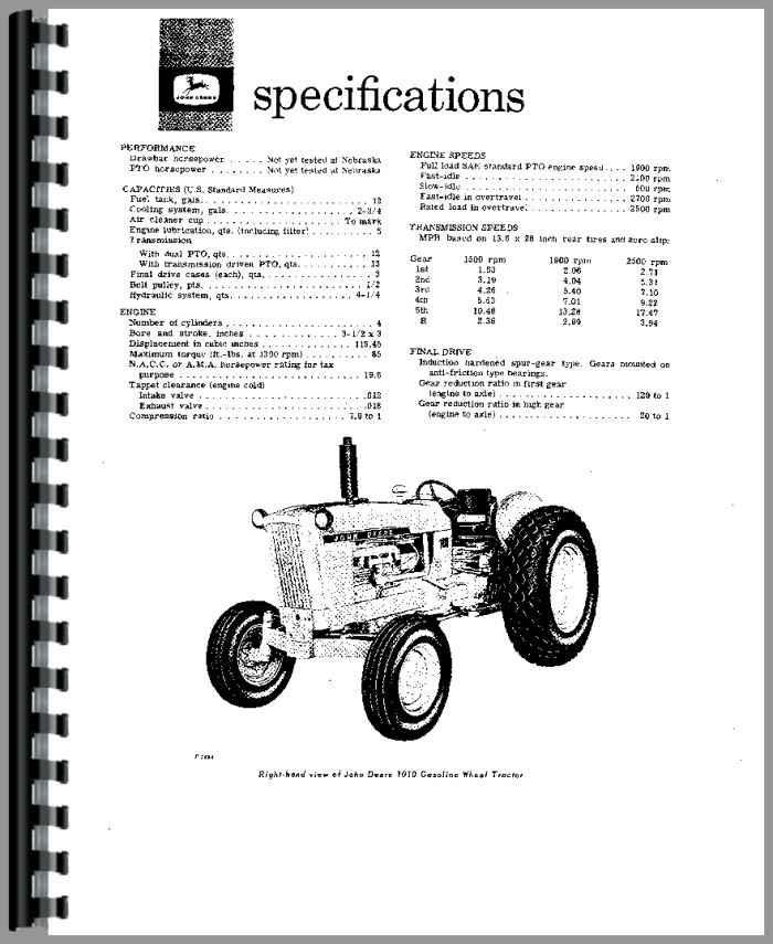 John Deere 1010 Service Manual