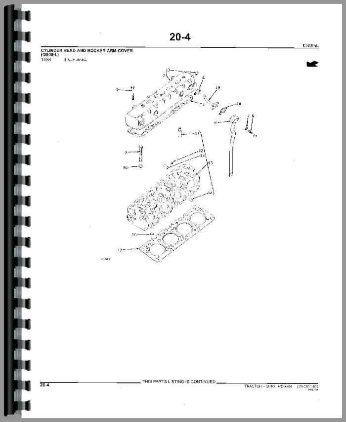 John Deere 2010 Tractor Parts Manual