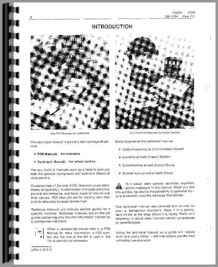 John Deere 2020 Tractor Service Manual