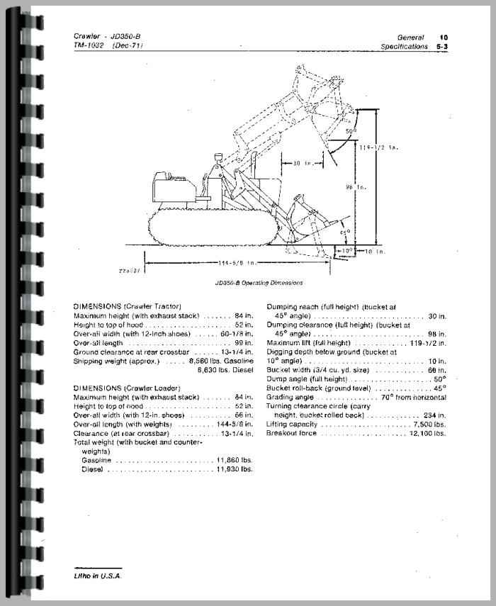 John Deere 350B Crawler Service Manual