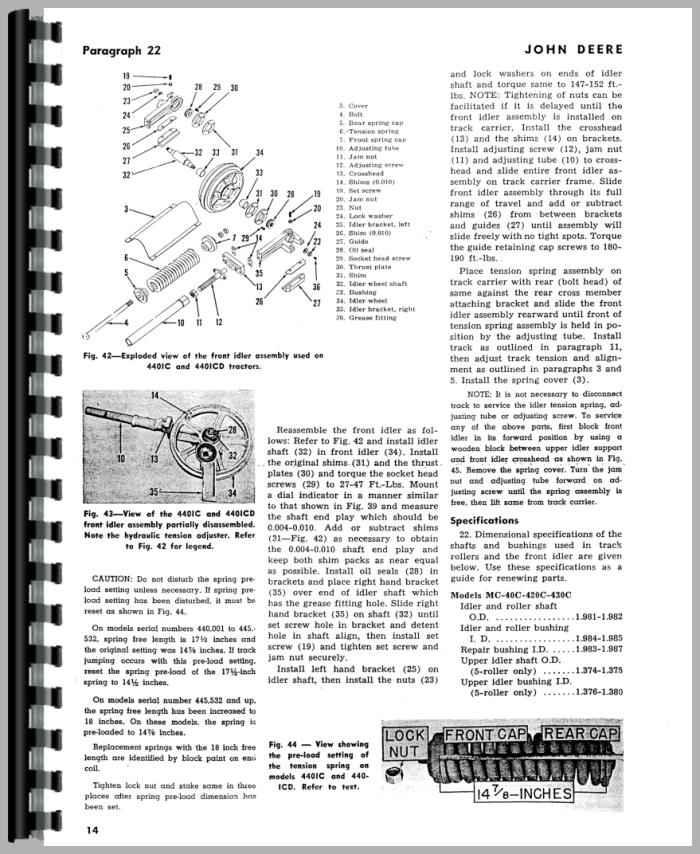 John Deere 40C Crawler Service Manual