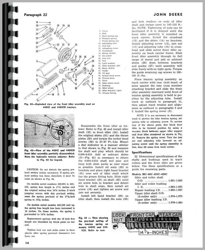 John Deere 420 Crawler Service Manual