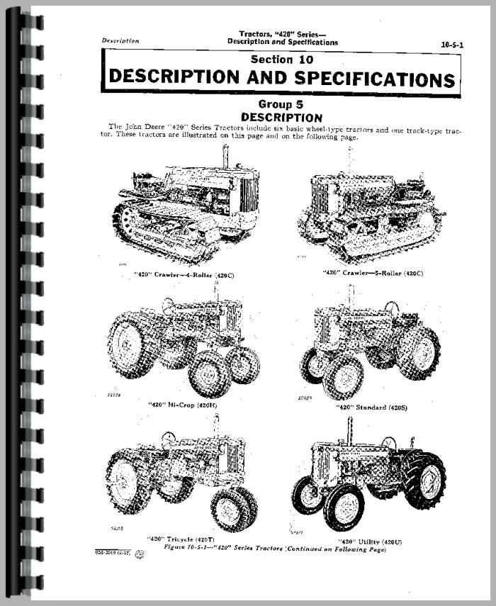 John Deere 420 Tractor Service Manual