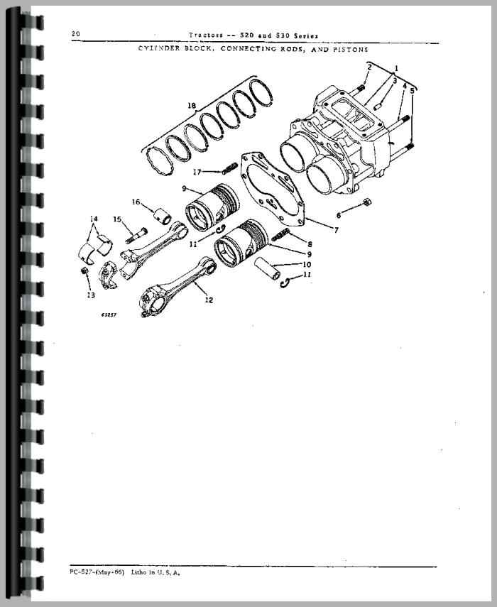 John Deere 530 Tractor Parts Manual