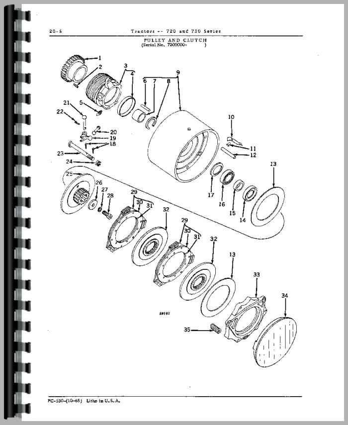 John Deere 720 Tractor Parts Manual
