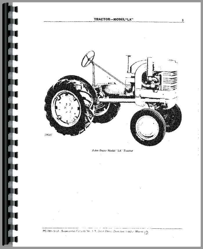 John Deere 4024tf270 Parts Manual