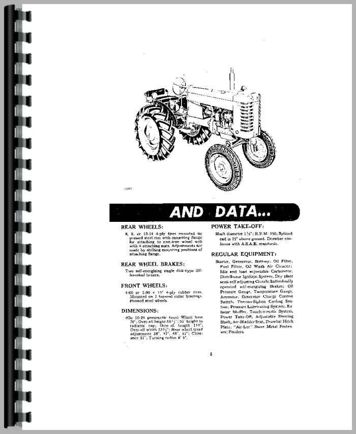 John Deere M Tractor Operators Manual
