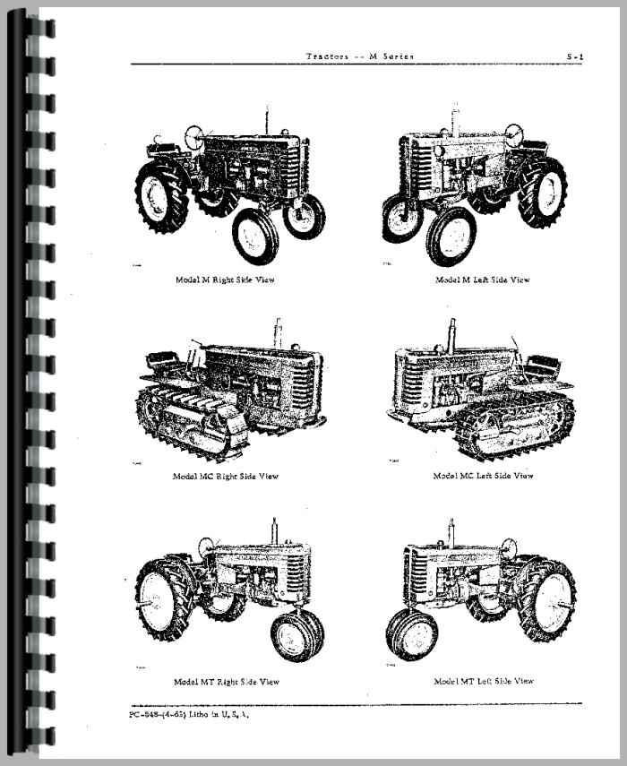 John Deere MT Tractor Parts Manual