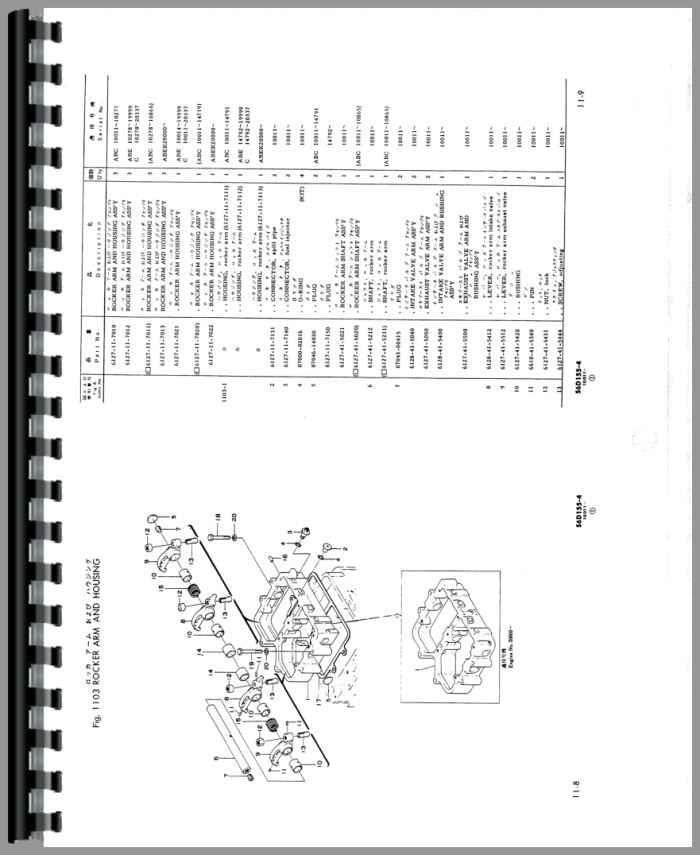 Komatsu D150A-1 Crawler Parts Manual