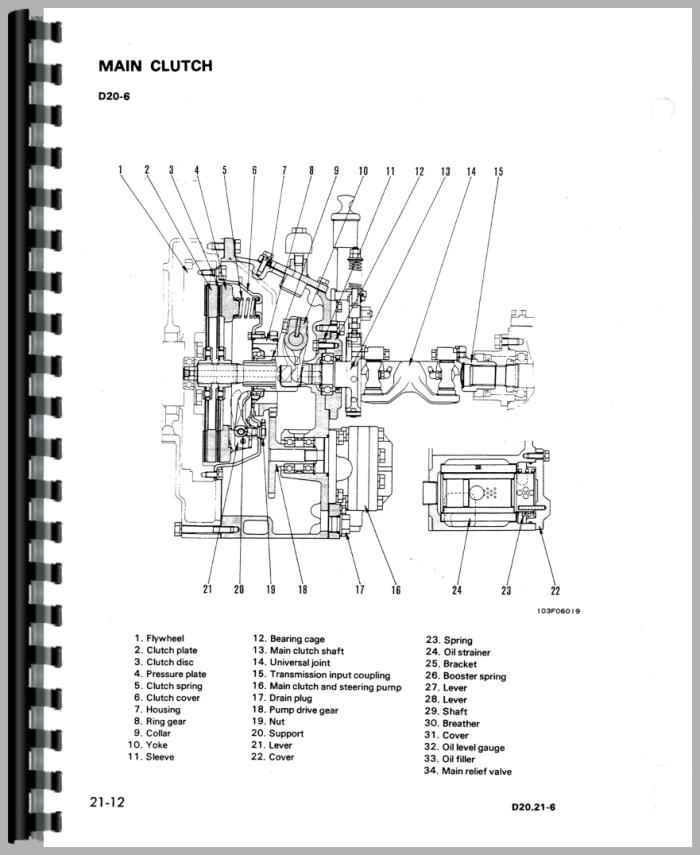Komatsu D20A-6 Crawler Service Manual
