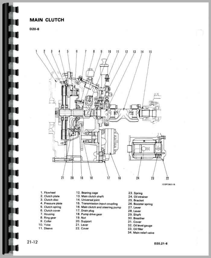 Komatsu D21P-6 Crawler Service Manual