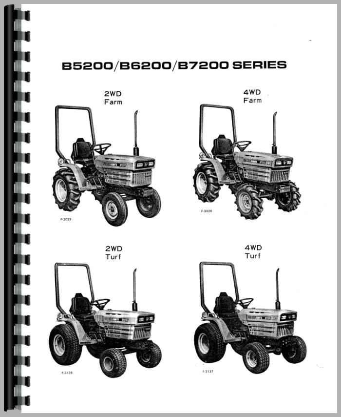 Kubota B6200D Tractor Operators Manual