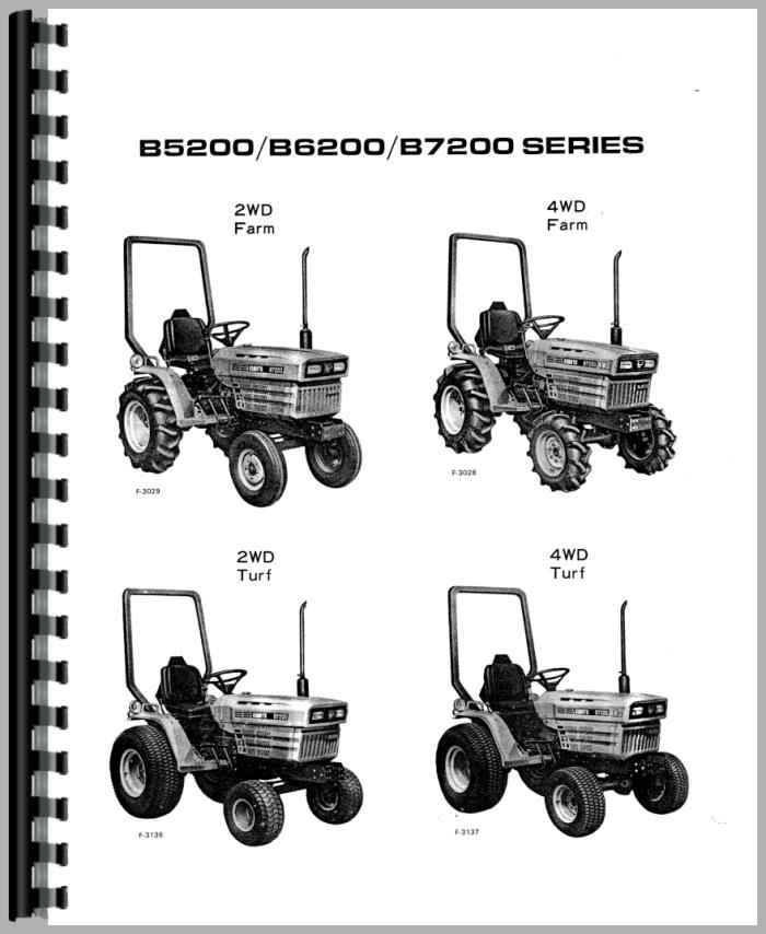 Kubota B6200E Tractor Operators Manual