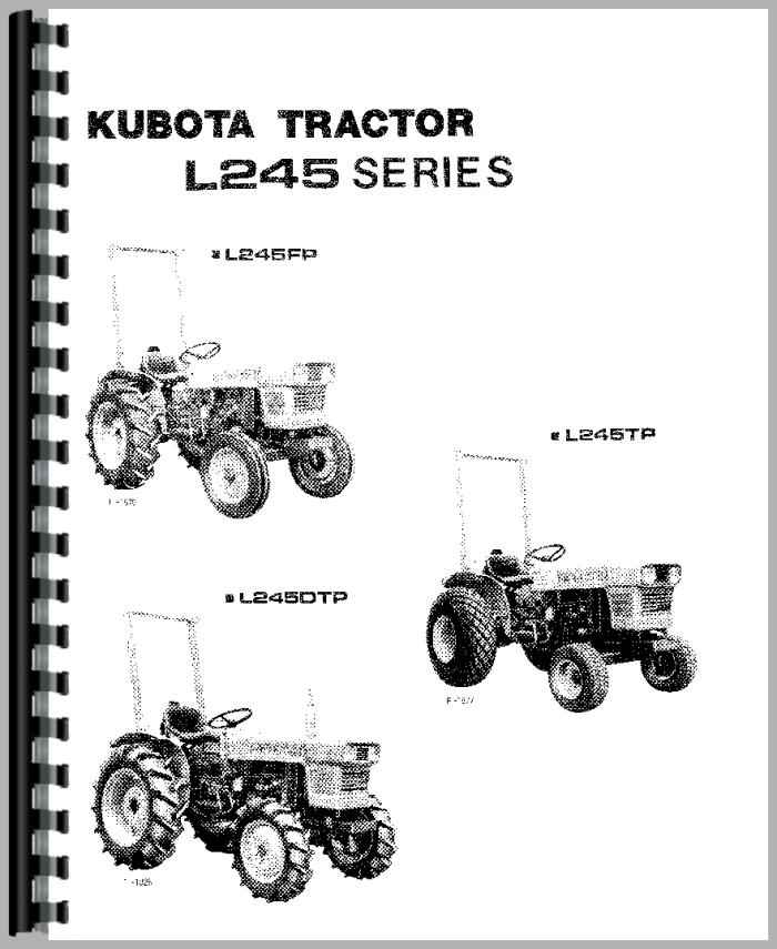 Kubota L245 Tractor Operators Manual
