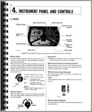 Kubota L345 Tractor Operators Manual