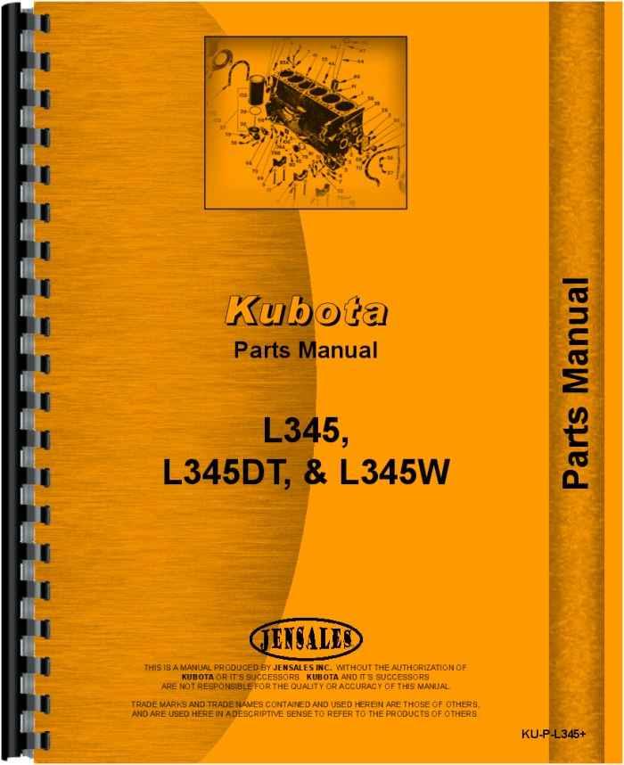 service manual - ku-s-l345 clch, kubota automotivekubota l345