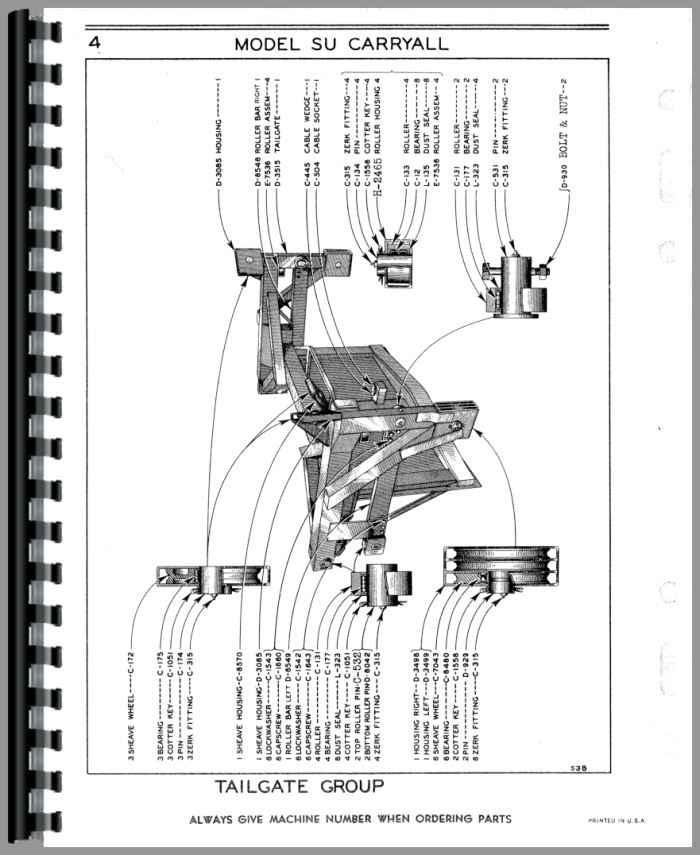 Le Tourneau Y Sheeps Foot Roller Parts Manual