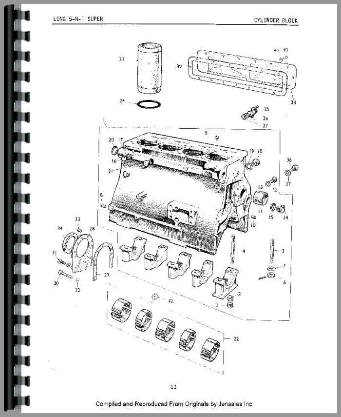 Long 1400 Tractor Loader Backhoe Parts Manual