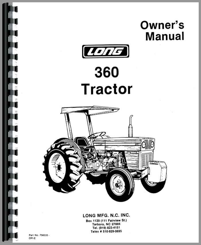 Long 360 Tractor Operators Manual