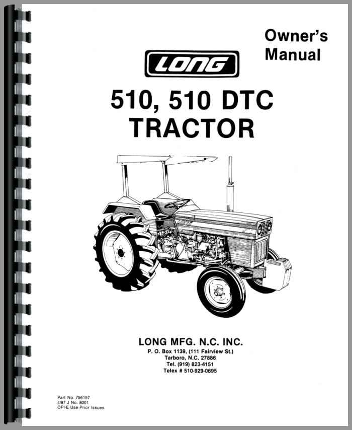Long 510 Tractor Operators Manual