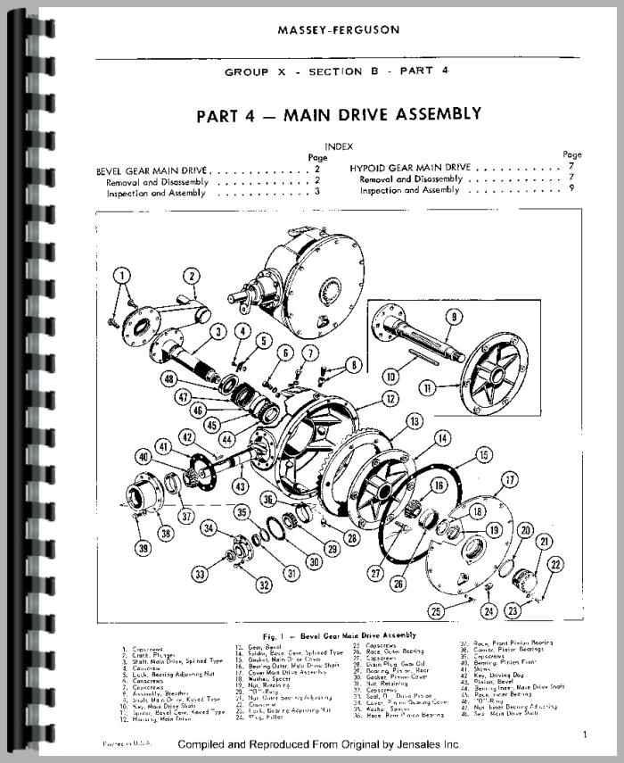 Massey Ferguson 10 Baler Service Manual