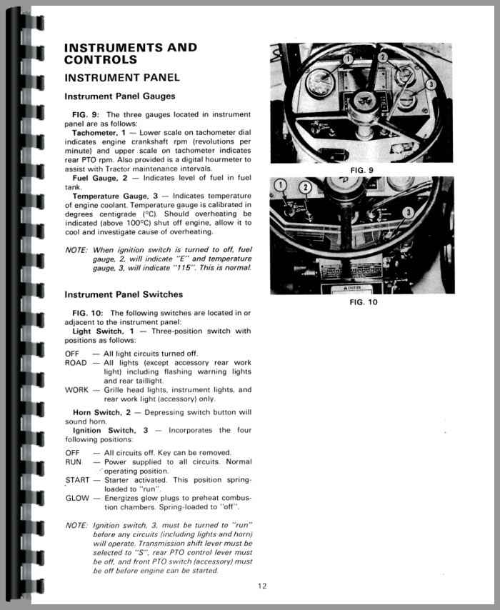 Massey Ferguson 1040 Tractor Operators Manual