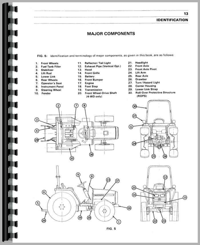 Massey Ferguson 1250 Tractor Operators Manual
