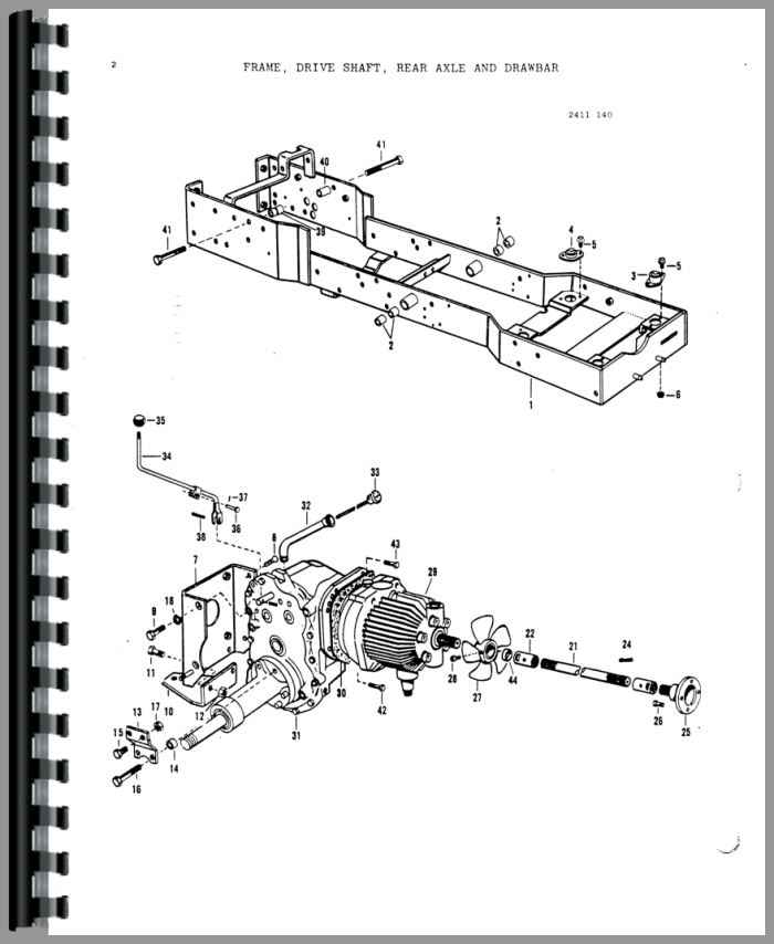 Massey Ferguson 1450 Lawn & Garden Tractor Parts Manual