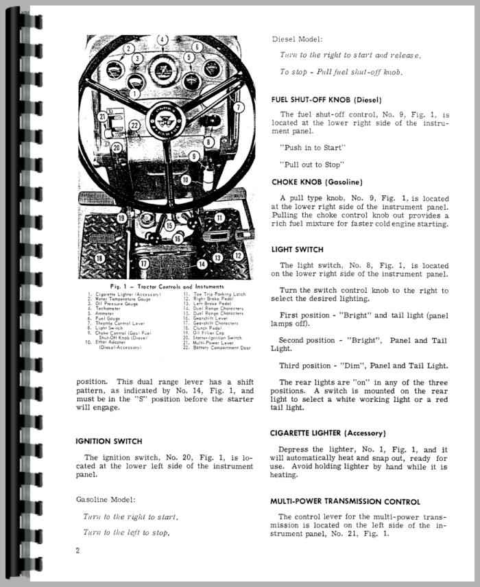 Massey Ferguson 165 Tractor Operators Manual