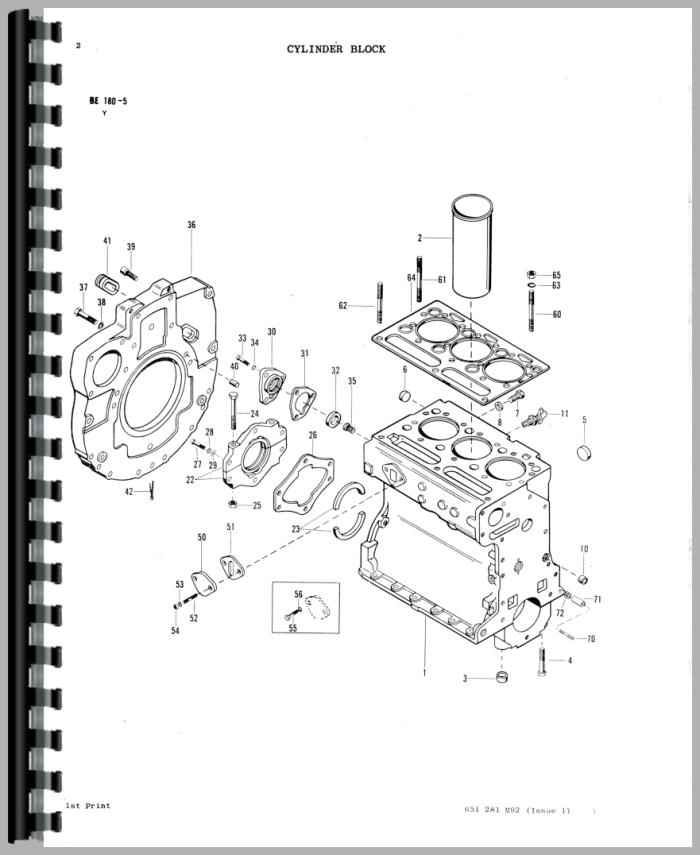 Massey Ferguson 20 Industrial Tractor Parts Manual