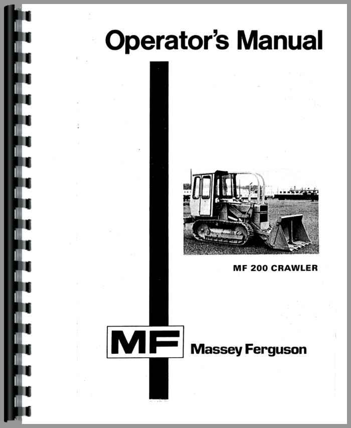 Massey Ferguson 200 Crawler Operators Manual